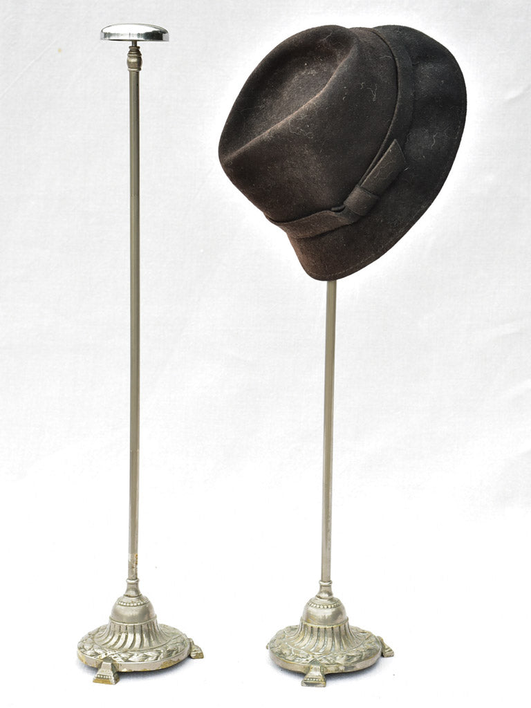 Pair of antique French metal hat stands 24½""