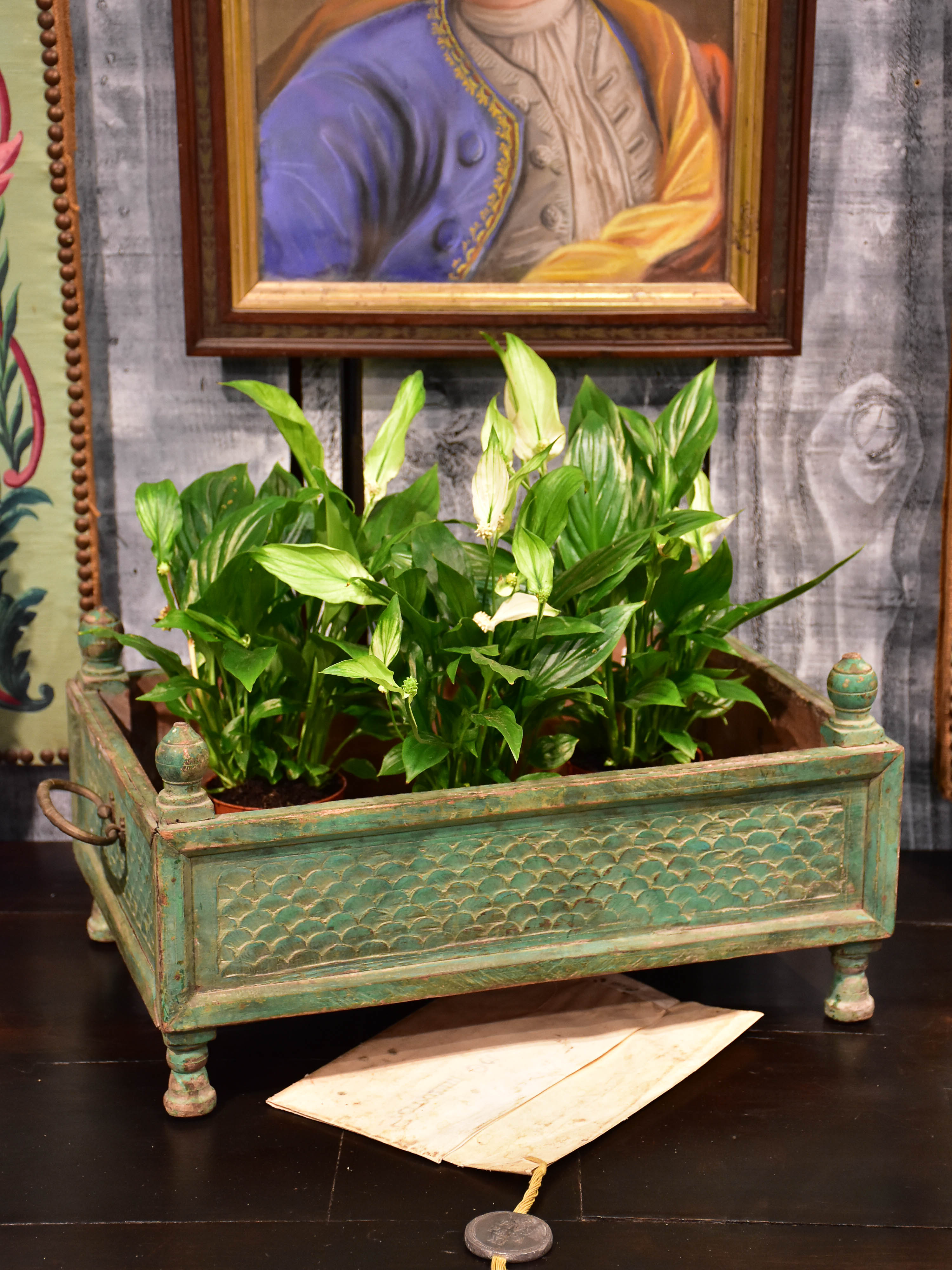 Rectangular French pot plant stand