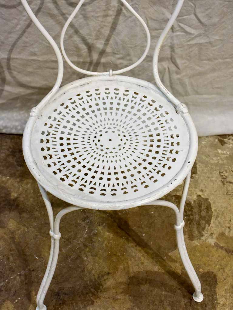 Antique French garden setting - round table and four chairs