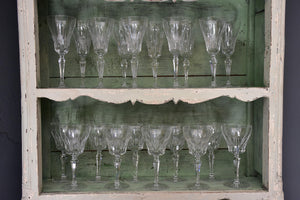 Circa 1930's French crystal wine glasses