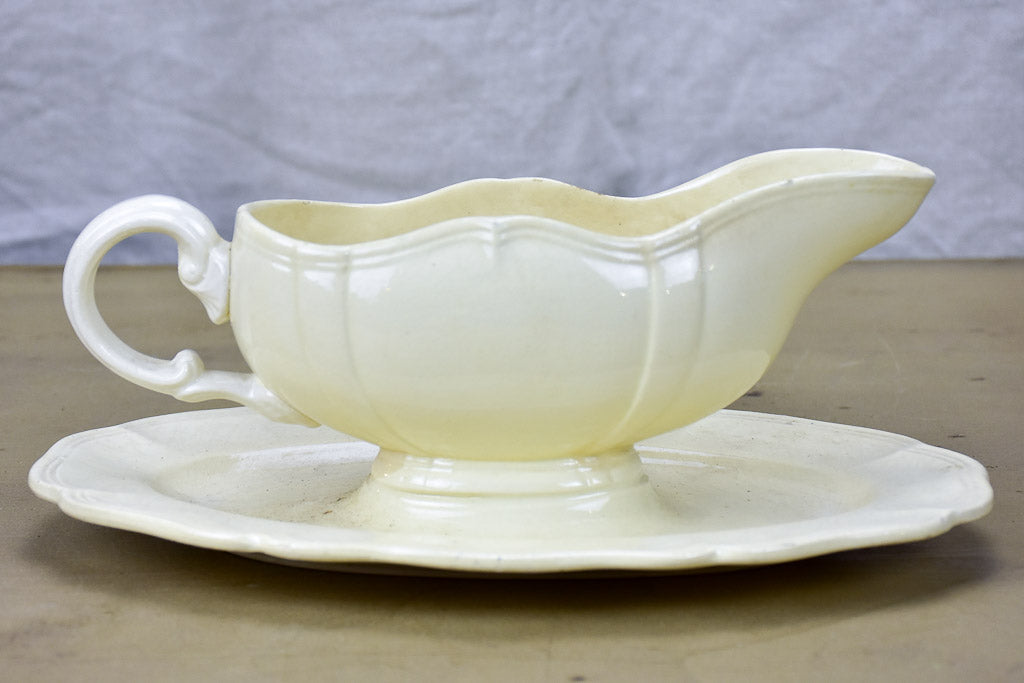 Mid Century French Digoin sauce boat