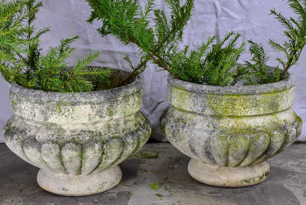 Pair of mid century French garden planters