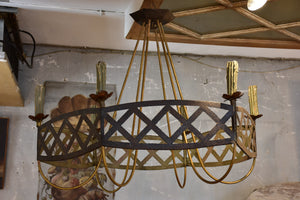 Large French wrought iron lustre