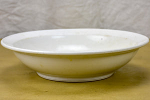 French vintage AH & Co white porcelain bowl
