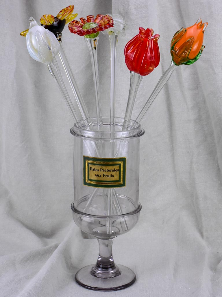 Late 19th Century glass apothecary jar 14¼""