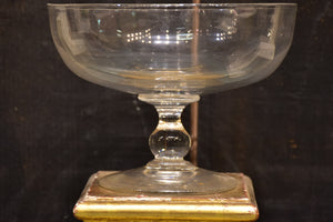 Antique French glass chocolatier's cup