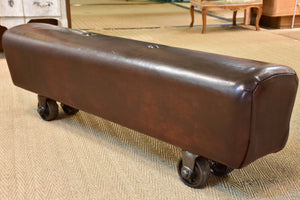Vintage leather gym horse - bench seat