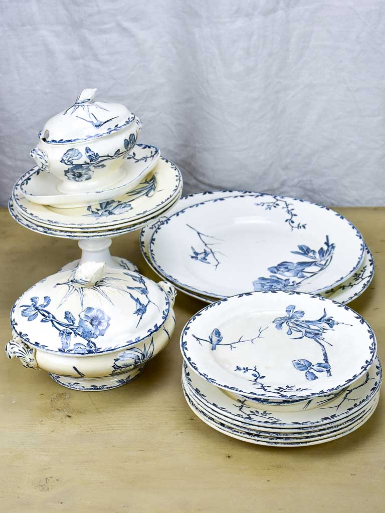 Antique Oxford French dinner service - 14 piece