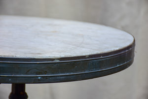 Antique French bistro table with marble top