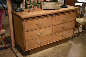 Vintage French drawers - blonde oak