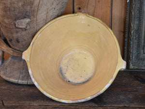 French confit bowl with ochre glaze – 13""