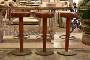 1960's leather vintage barstools
