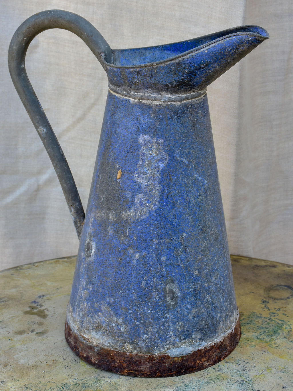 Antique French zinc pitcher / watering can