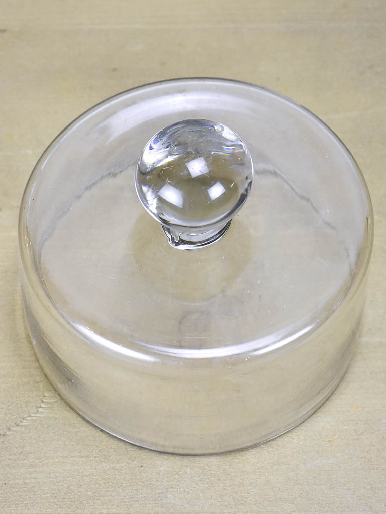 Antique French butter dome - hand blown glass