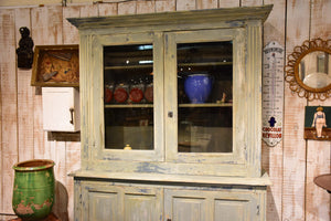 Antique French kitchen dresser with glass doors
