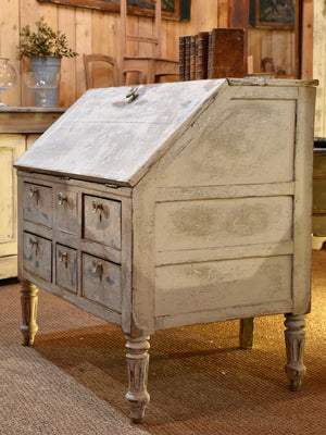 Late 18th century Louis XVI French secretaire with blue patina