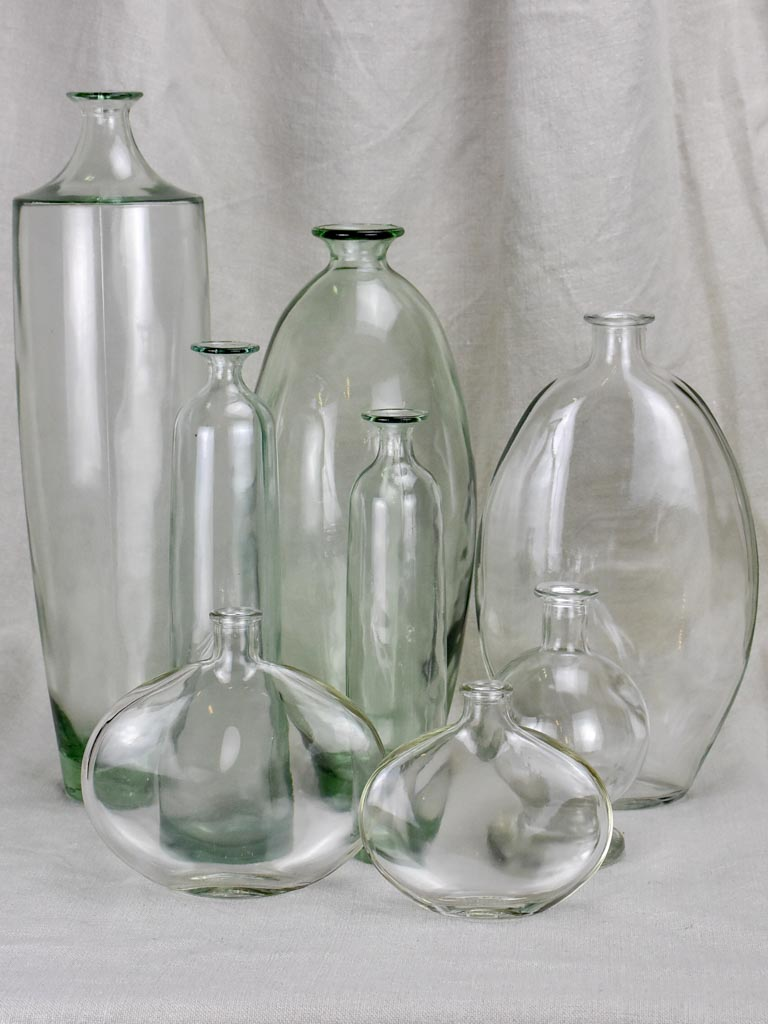 Collection of 8 glass vases