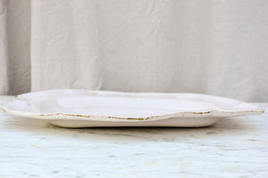 19th Century French platter - white