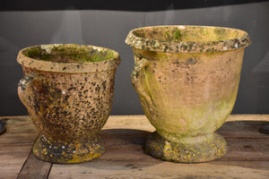 Two vintage French Castelnaudary garden planters