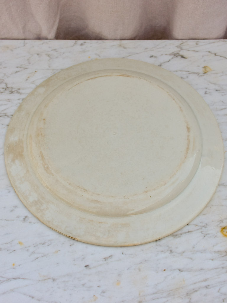 Large antique French platter - white 15""