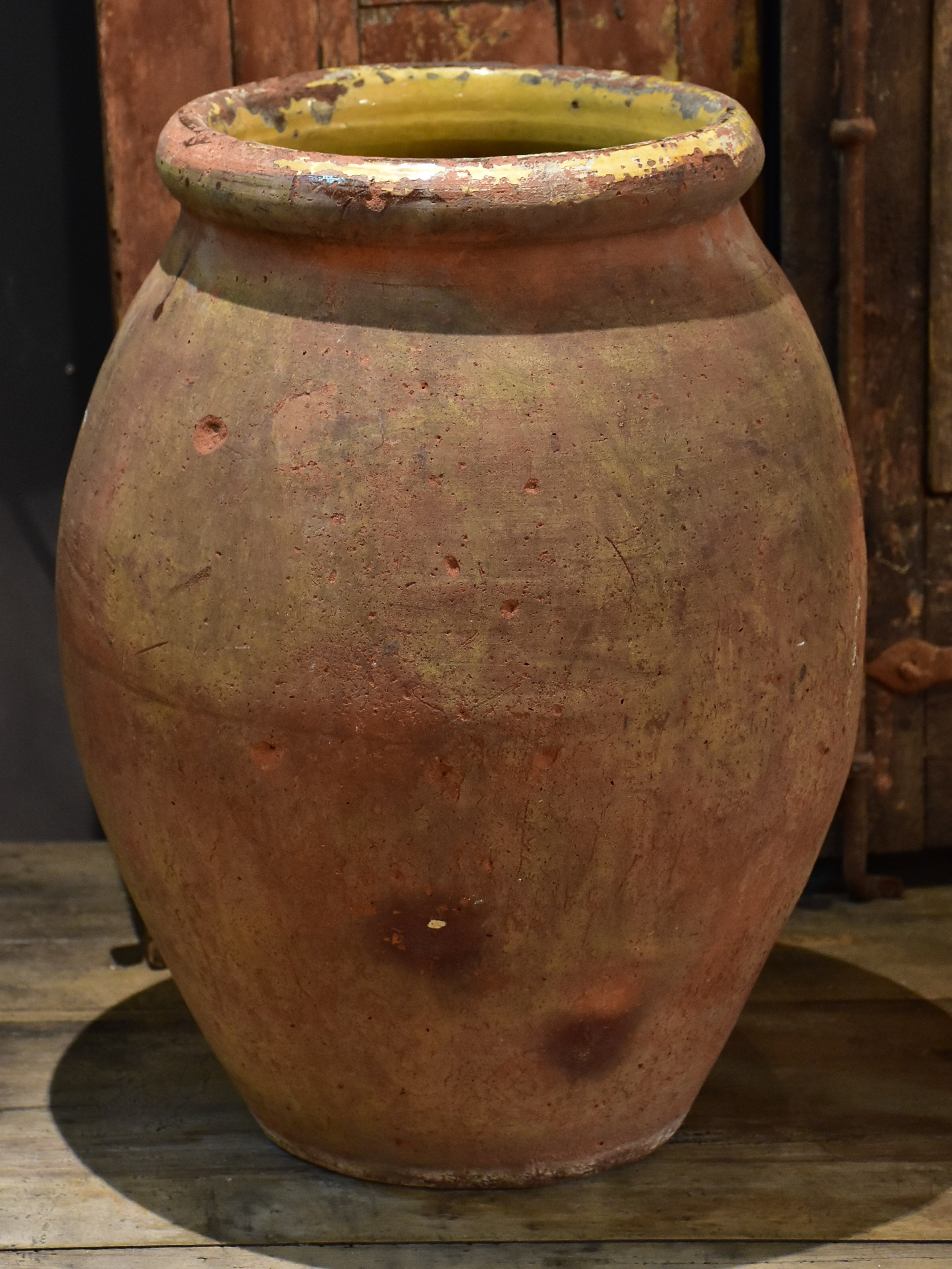 19th century French olive pot from Frejus