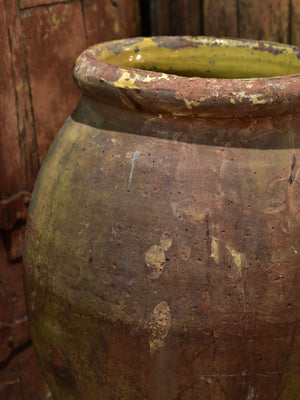 19th century French olive pot from Frejus 22""