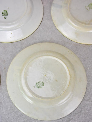 Set of eight blue and white ironstone plates from the early 20th century