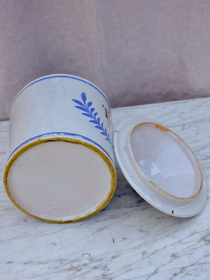 Early 20th Century French ceramic Tabac container