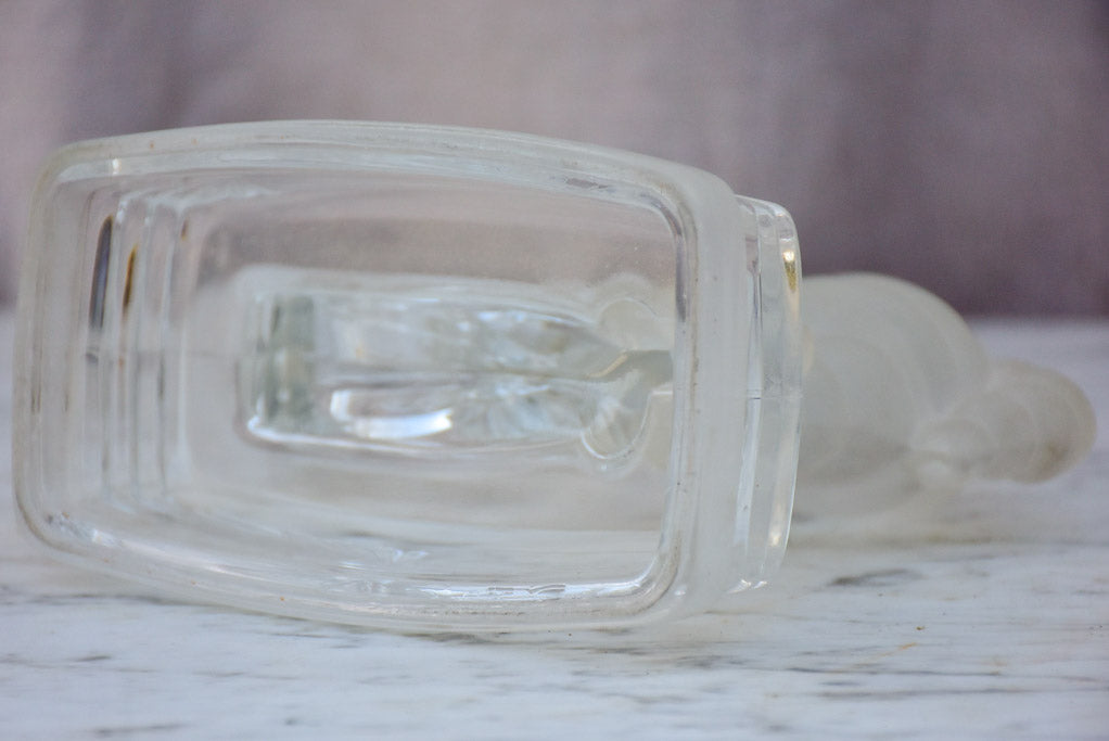 Mid-century glass paperweight, Michelin tyres