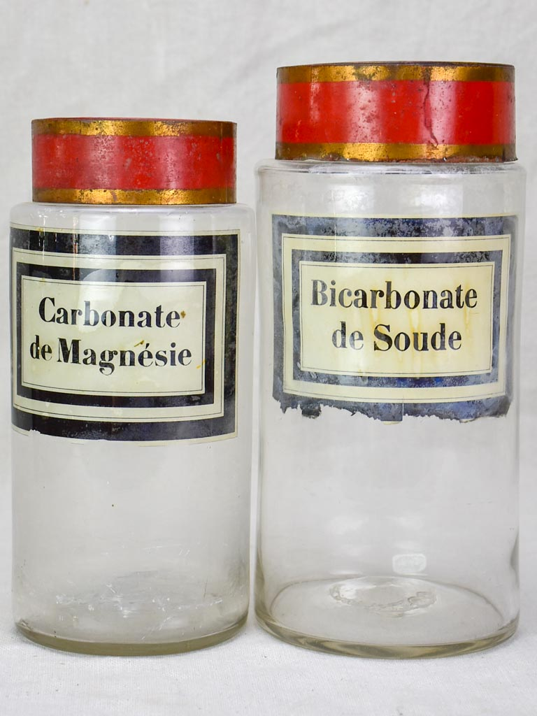 Two 19th Century apothecary glass jars