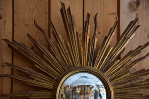 Antique sunburst mirror – gilt wood