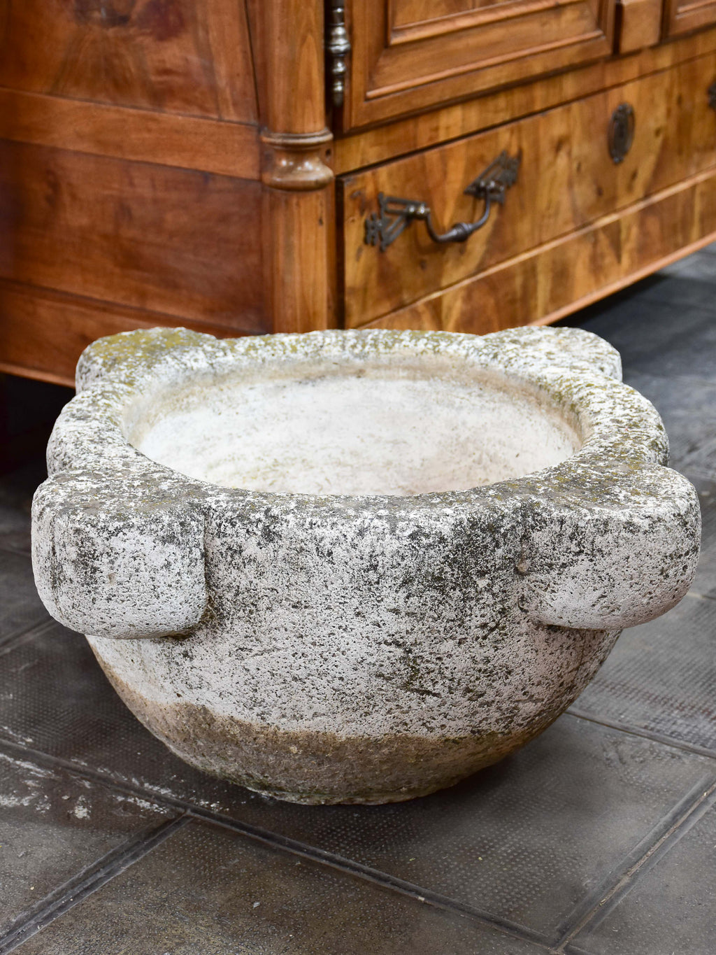 Very large concrete mortar planter from Les Alpilles, Provence