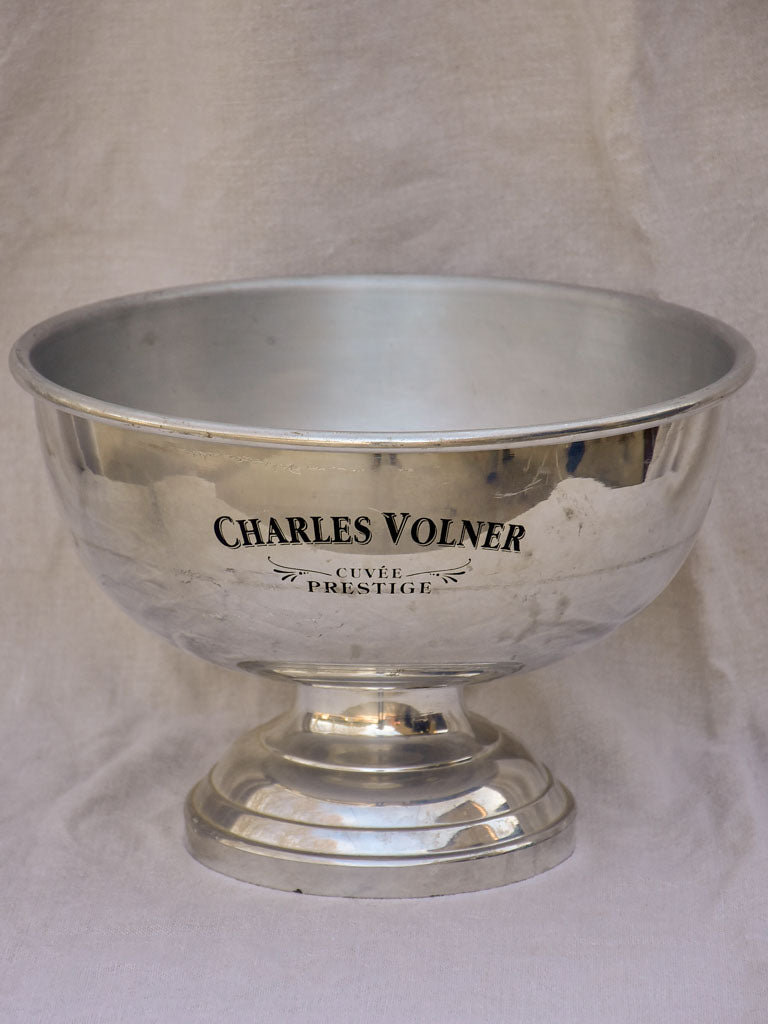 Large vintage French champagne bucket - Charles Volner
