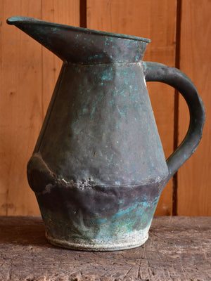 Antique French copper watering can