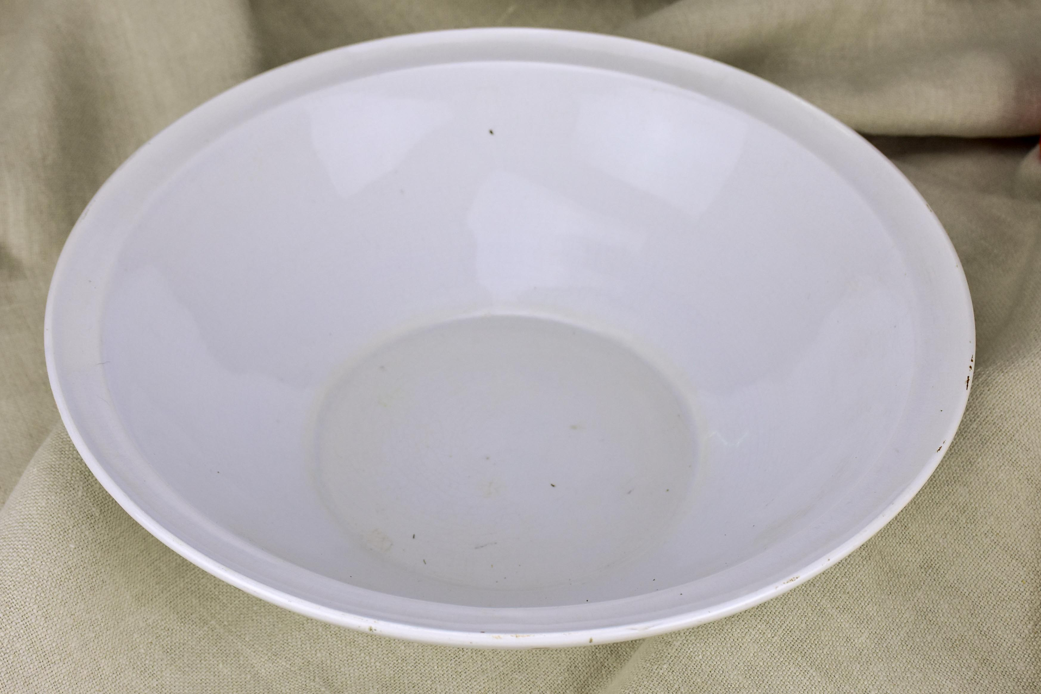Antique French Sarreguemine ironstone bowl