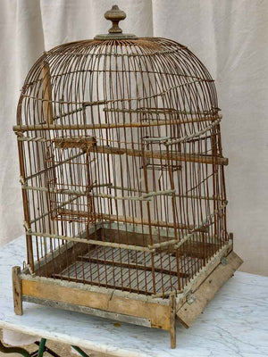 Large antique French birdcage