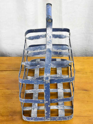 Large antique French bottle carrier - 8 bottles