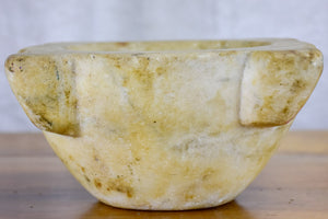 Antique French marble mortar