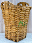 Very large antique French harvest basket