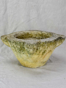 19th century French stone kitchen mortar 17¼""