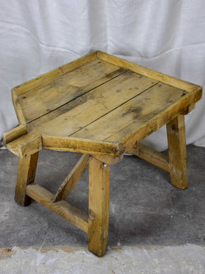 Antique French cheese drainage table - rustic French table