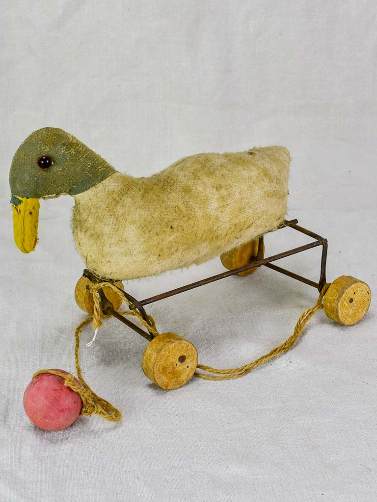 1930's French pull toy - duck