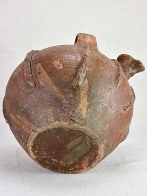 Large walnut oil pitcher from the early twentieth century 11½""