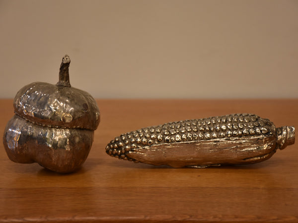 1970's Italian silver capsicum and sweet corn