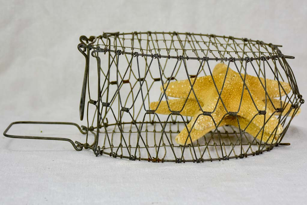 Antique French salad wash basket - foldable