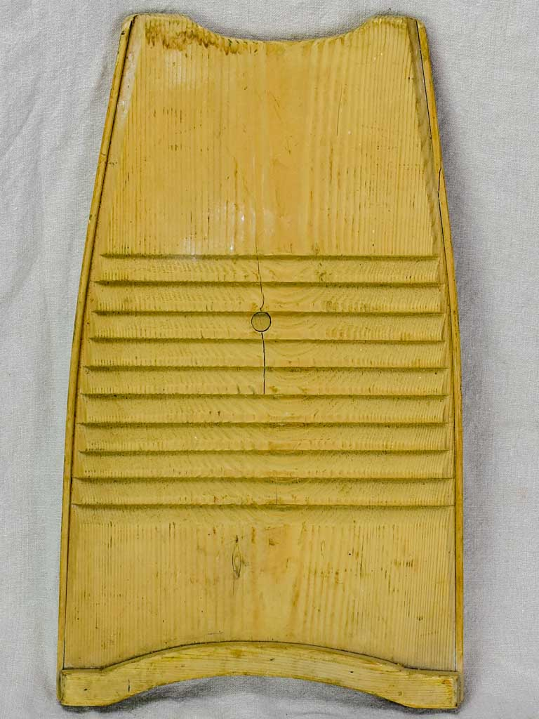"Mid century French wooden wash board 13½"" x 22½"""