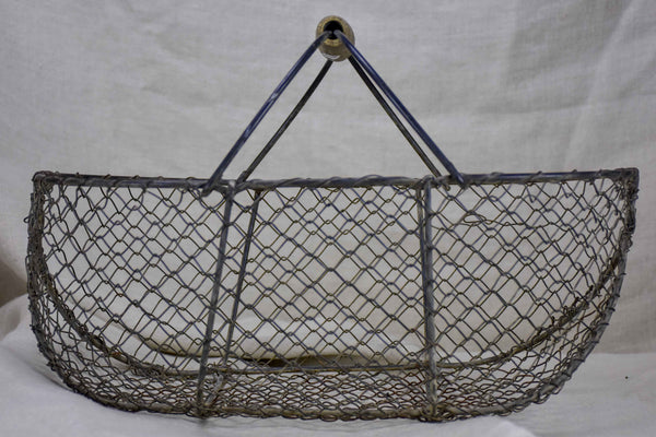 Small antique French wire basket for the harvest