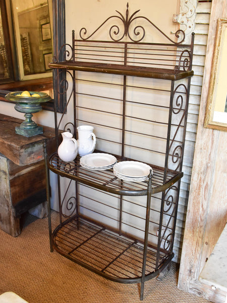 Rare pair of French boulangerie display shelves