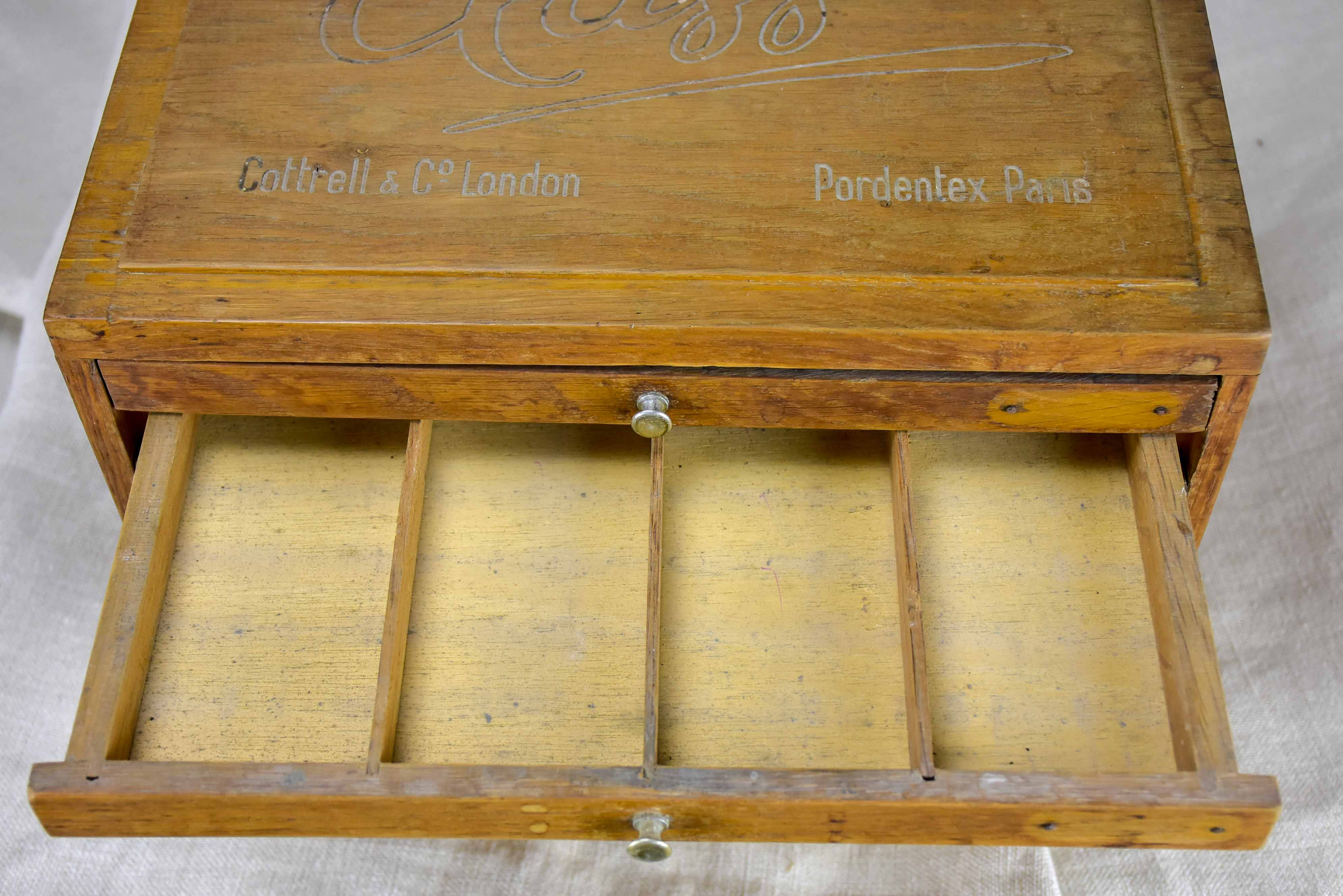 Vintage set of Dentist's drawers for prosthetic teeth