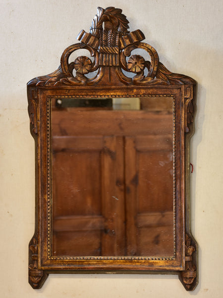 19th century carved Directoire mirror